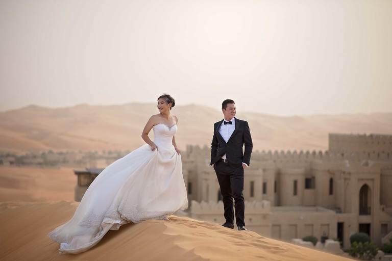 Abu Dhabi Prewedding at Liwa Desert Qasr Al Sarab Anantara