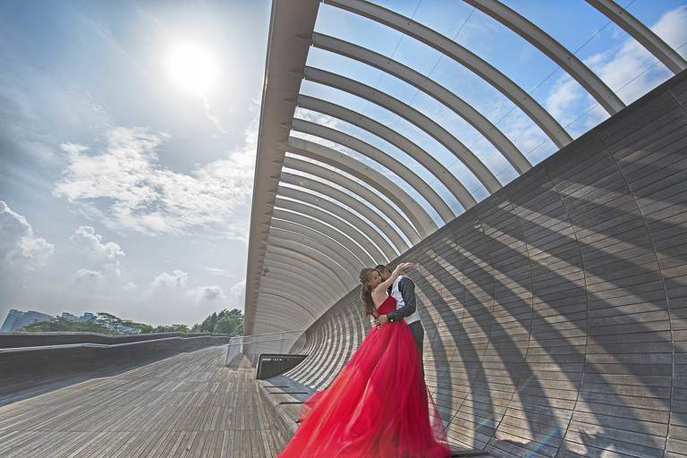 Singapore Prewedding at Telok Blangah Hills Henderson Wave