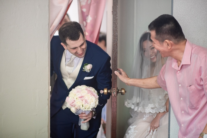 Groom Fetching the Bride