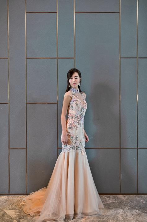 Cheongsam inspired gown