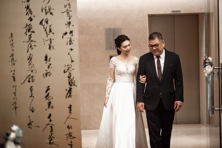 Marching in for Solemnization with dad