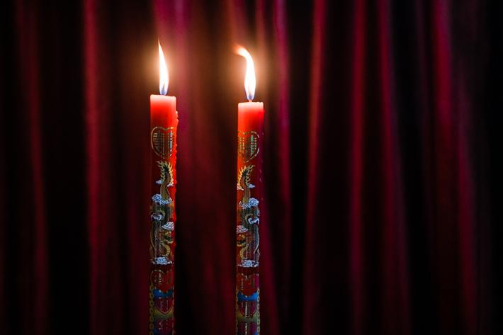 Double Phoenix Candle