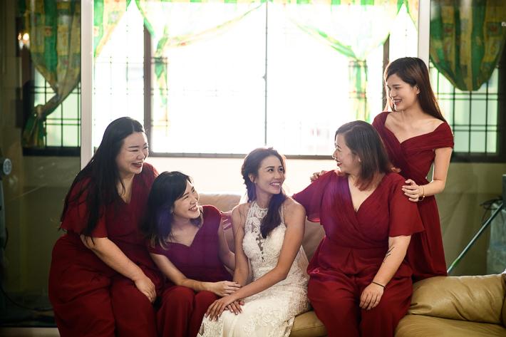 Bride's and bridesmaid